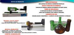 Maquina De Cortar Garrafas De Vidro Elétrico Automático - R$ 275,00