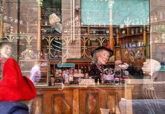 Sadly the sunlight was in ALL the wrong places preventing Paddy and Jude taking a good photo of the incredible window displays in @blackebysweets -  but we can't help but post them until we can go back and take some better ones for our journal because they truly are the most beautiful things even in dodgy photos.  When I was a small child my Grandmother would travel from Port-Fairy to Melbourne  by train (which was a big deal in those days! ) once a year for her wardrobe update from Myer and…