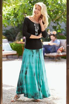 Aqua Haze Skirt - Skirts, Clothing | Soft Surroundings #SummerCatalogsContest