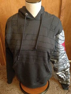 Winter Soldier Hoodie Tutorial by geosdoodles on Etsy