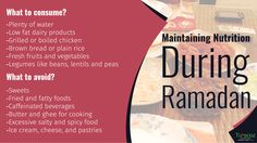 #Turacoz helps you learn the way to maintain nutrition during #Ramadan.