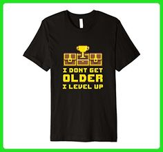 Mens I Dont Get Older I Level Up Funny Tee Gamer Birthday Gift Small Black - Birthday shirts (*Amazon Partner-Link)