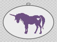 ... Unicorn Silhouette Cross Stitch PDF Pattern by kattuna on Etsy, $3.50