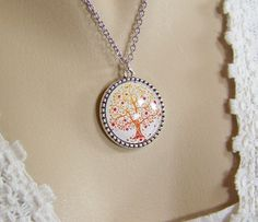 Tree of Life Necklace Glass Cabochon Tree by CreatedinTheWoods