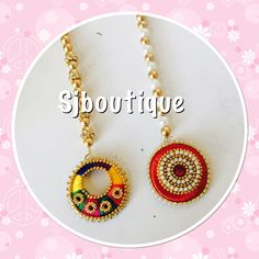 Silk Thread Earrings, Thread Jewellery, Beaded Jewellery, Handmade Rakhi, Dorset Buttons, Jewelery, Handmade Jewelry, Jewelry Making, Lord