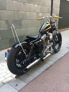 Sportster Chopper, Custom Sportster, Sportster 883, Harley Davidson Custom Bike, Harley Davidson Sportster, Bobber Motorcycle, Cool Motorcycles, Bobber Style, Motor Scooters