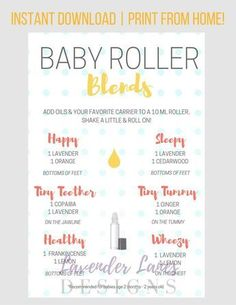 PLEASE READ ALL INFORMATION BELOW :) This baby roller recipe card with Young Living essential oils is a wonderful resource for essential oil users! Details: • Offers oil roller combinations specifically for kids, for many common health and wellness needs, including mostly oils from the premium starter kit • A great resources for oil-loving parents! • Print and laminate & pop it on the fridge for easy referencing! • This is a COMPLIANT piece. ---------------------- HOW IT WORKS