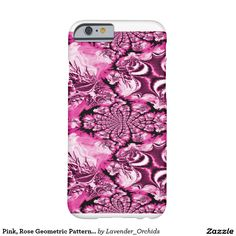 Pink, Rose Geometric Pattern With Swirls Barely There iPhone 6 Case