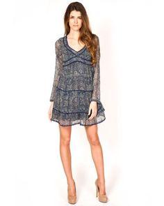 Designer : DRESSES OUTLET - BLUE CHIFFON DRESS - $25 Today on Mynetsale.com.au!