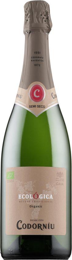 Codorniu Ecológica Semi-Seco cava kuohuviini puolikuiva hedelmäinen aperitiivi saunajuoma kestää maustettuakin ruokaa tapakset 9,79 e