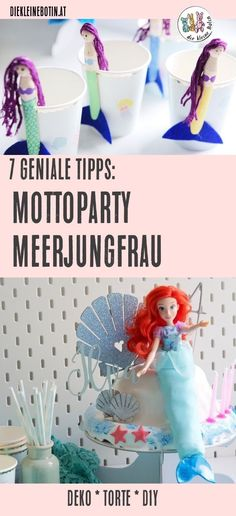 Mermaid birthday party - 7 ingenious tips for success around the MEERJUNGFRAU theme party: birthday or playdate with the bea - Diy Birthday Invitations, Birthday Tags, Funny Birthday Gifts, Wedding Invitation, Anniversary Surprise, Funny Anniversary Cards, Hawaiian Birthday, Diy Gifts For Kids, Barbie