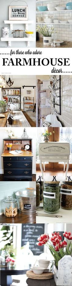 Farmhouse Decor and Inspiration all here! I see a couple future projects.