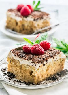 This Tiramisu Tres Leches Cake combines two classics into one incredibly delicious and decadent cake. This elegant Tres Leches Cake espresso spiked, topped with a heavenly mascarpone topping is perfect and truly special. Sweet Recipes, Cake Recipes, Dessert Recipes, Cannoli, Italian Desserts, Just Desserts, Cupcakes, Cupcake Cakes, Tri Lece