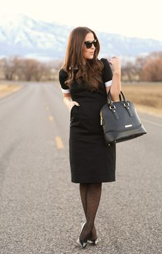 The Wendy Dress: little black dress, with cuffs and a peter pan collar. Reminds me of my French tutor Annie