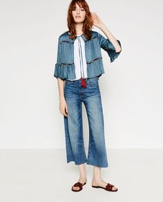 Image 1 of EMBROIDERED BLAZER from Zara