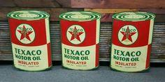 Die-Cut Texaco Motor Oil Signs