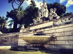 One of Rome's many fountains, Rome, Italy