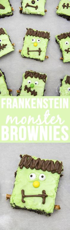 HOLIDAY BOARD: Frankenstein Brownies - Like Mother Like Daughter