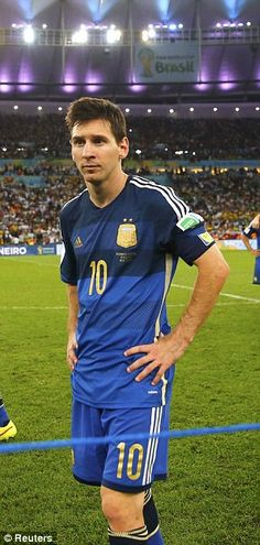 Desolate: Argentina captain Lionel Messi after the World Cup final. Steven Gerrard, World Cup 2014, Fifa World Cup, Premier League, God Of Football, Leonel Messi, Van Persie, Messi 10, Uefa Champions
