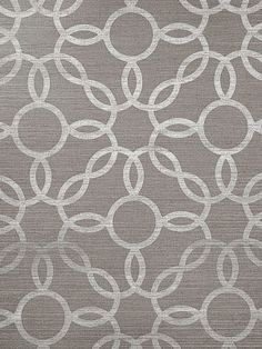DecoratorsBest - Detail1 - PJ 5168 - Rings - White on Elephant Manila Hemp - Wallpaper - DecoratorsBest