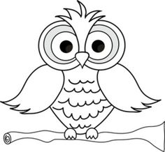 Cute Owl Coloring Pages | Large