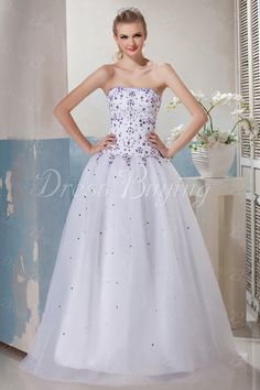 New Style Ball Gown Sweetheart floor-length White Prom/Ball Gown Dress ——US$ 161.69
