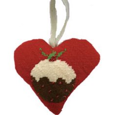 Create your own wonderful Christmas decorations with a difference this year with this Christmas Pudding tapestry heart kit from Cleopatra's Needle.