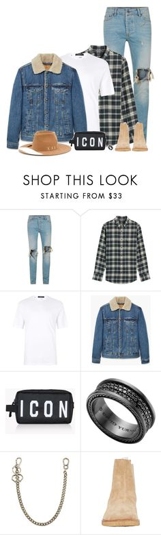 """Pregame."" by nba-luvher ❤ liked on Polyvore featuring Topman, Nordstrom, MANGO MAN, Dsquared2, David Yurman, Common Projects, Nick Fouquet, men's fashion and menswear"