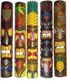 Hawaiian Tribal, Hawaiian Tiki, Palm Tree Drawing, Tropical Wall Decor, Tiki Totem, Tiki Mask, Celtic Tree Of Life, Family Tree Wall, Picture Hangers