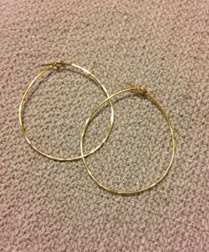 Hammered 24K gold hoop  by rosewaterdesigns   $10.00  #etsy