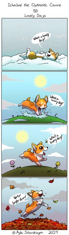 Ichabod the Optimistic Canine :: Lovely Days | Tapastic Comics - image 1