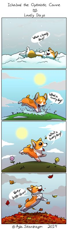 Ichabod the Optimistic Canine :: Lovely Days | Tapastic Comics - image 1