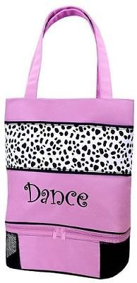 1cd52f71c708 Dance Accessories 152358  Sassi Designs Dalmatians Print Tote With Shoe  Compartment And Embroidered Dance -