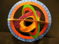 Deconstructed Kandinsky Circles - this would be fabulous for my students' unit on 'Out of this world' (solar systems)