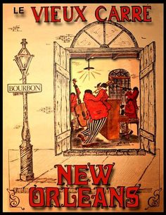 Print  New Orleans Jazz Le Vieux Carre Poster by BloominLuvly, $9.95