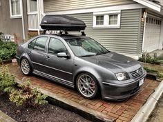 VW GLI Mk4 Jetta Thule Excursion Carrier #Lowered #GLI #Jetta #VW #Mk4 #IV #Static #Stance #Volkswagen