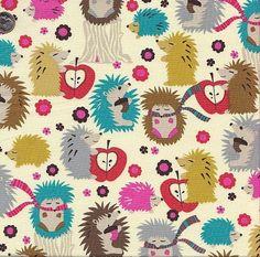 Hedgehog Meadow - Michael Miller #Michaelmiller #Hedgehog #Novelty