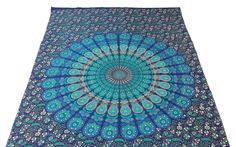 Hippie Mandala Tapestry Hippie Tapestries Wall by Pinnacleshoppe