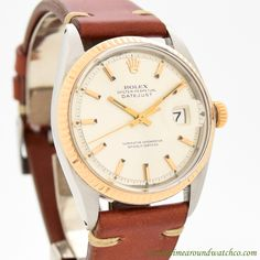 Wow! Take a look this bad-boy. This is a 1967 Rolex Datejust Ref. 1601 with a rare, 14K Rose Gold, fluted bezel. This timepiece also features an original dial and a 26-jewel, caliber 1570 movement. A truly unique example! Not seen every day! (Store... #rolex #datejust #twotone #1570 #calendar #classic #vintage #watch #watches #cool #wristwatch #collectible #timepieces #stawc
