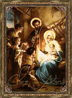 by january 12 in seraphic far happy feast of holy family Christmas Nativity, Merry Christmas, Vintage Christmas, Christmas Decor, Christmas Ideas, Lucas 2, Happy Feast, Boxed Christmas Cards, Christmas Scenes