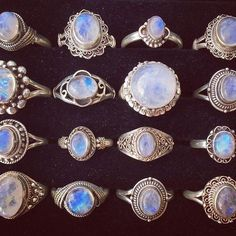 b264ad82878 Sterling silver genuine rainbow moonstone rings from  15 USD with the  largest being  38 USD Worldwide