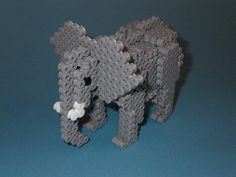 DIY 3D Elephant perler beads - Photo tutorial