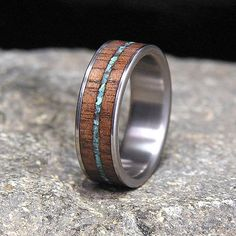 Titanium Wood Wedding Band or Ring Kentucky Black by HolzRingShop, $150.00
