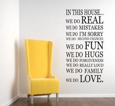 We Do In This House WALL STICKER KITCHEN Quote Art Decal | eBay