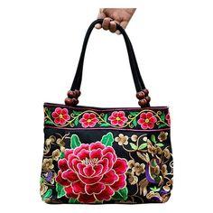 Fashion Handmade Flowers Ladies Tote Shoulder Bags