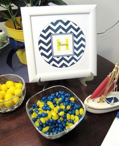 Navy chevron & yellow:)