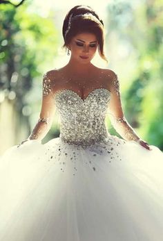 50 Modelos de Vestido de Noiva Estilo Princesa 2016