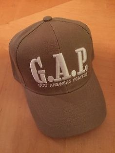 G.A.P. God Answers Prayers Christian Beige Baseball Cap God Answers Prayers, Answered Prayers, Christian Hats, Christian Quotes, Scripture Art, God Is Good, Inspirational Gifts, Beanies, Bible Quotes
