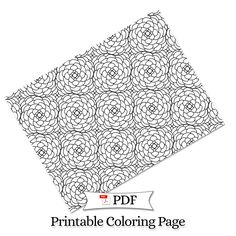 Petal Madness Printable Coloring Page #12 - Terry McClary   | Adult Coloring Page   | Coloring Printable | coloring pages