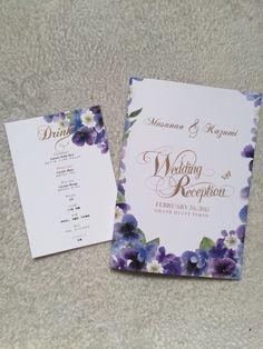 プロフィールbook&メニュー・ドリンク・席札 の画像|solaの♥happywedding♥ Wedding Paper, Wedding Cards, Wedding Invitations, Wedding Images, Wedding Designs, Menu Design, Paper Goods, Invitation Design, Wedding Decorations